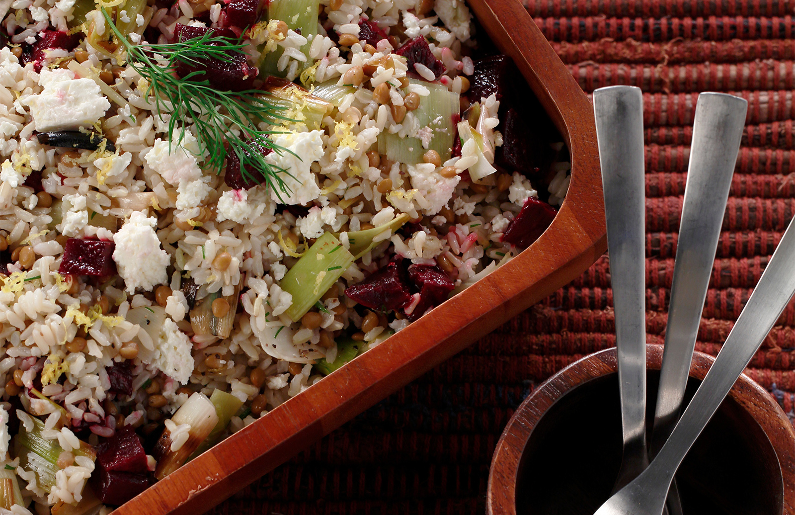 Honey Roasted Beets & Leek with Lentils & Rice | Lentils.ca