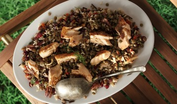 Wild Rice & Lentils with Toasted Pecans & Flaked Salmon 1